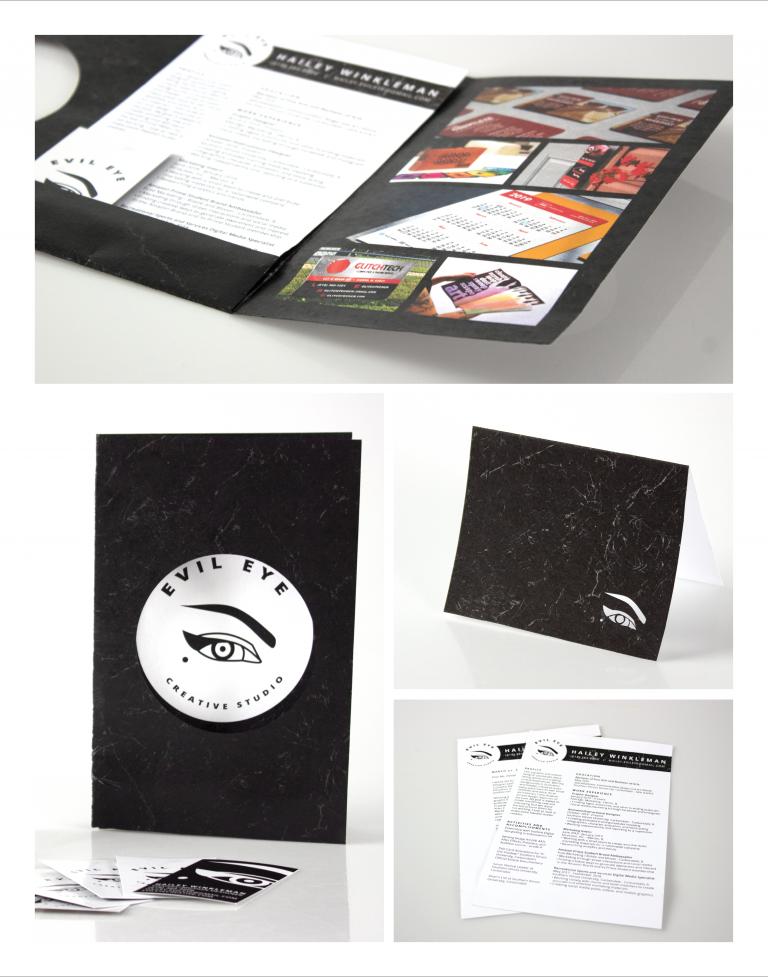 Promotional Packet for Evil Eye Creative Studio