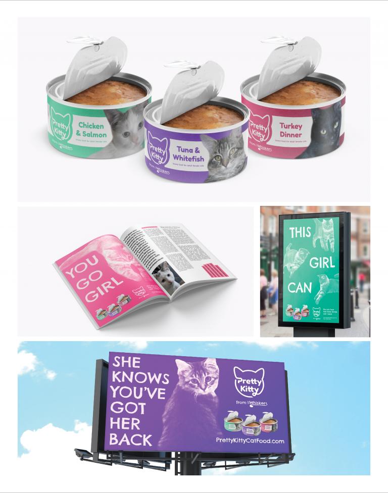Pretty Kitty Cat Food Branding