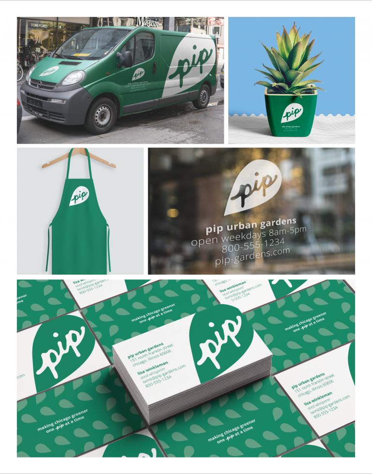 Pip Urban Gardens Branding